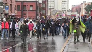Marchas en Colombia siguen