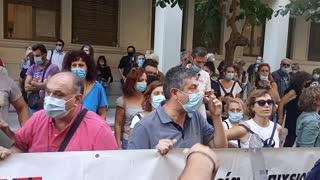 Διαμαρτυρία της ΠΟΕΔΗΝ και ένταση έξω από το υπουργείο Υγείας