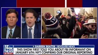 Tucker Carlson w/Darren Beattie on the FBI January 6 RIOTS