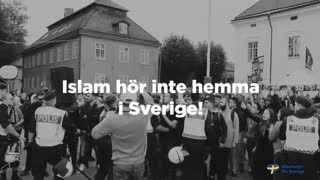 En uppenbarligen psykiskt sjuk islamist förklarar krig mot Sverige
