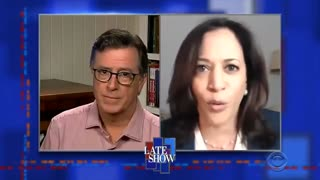 Kamala Harris Endorses Violent Protests with Stephen Colbert
