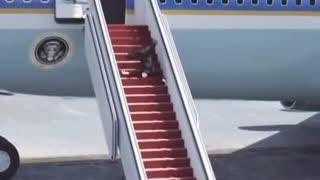 Breaking news! Joe Biden landing from Aeroplane