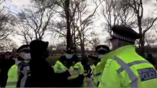 Man arrested for hugging