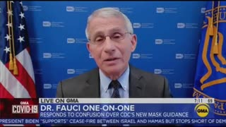 Dr. Fauci admits his wearing masks indoors despite being vaccinated