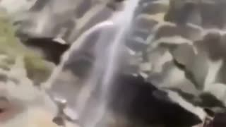 Funny indian waterfall video .