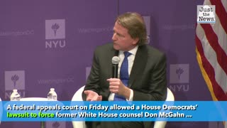 Appeals court allows House Democrats' suit for McGhan's testimony to go forward