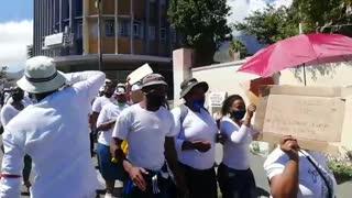 Mfuleni backyarders marching to Human Rights Commission