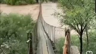 Dancing bridge heavy flooding