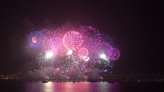 Spectacular Fireworks Light Up The Cannes Sky