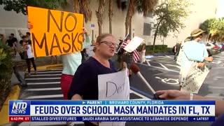 Feuds Over School Mask Mandates in Florida, Texas