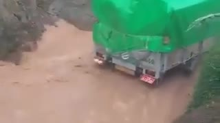 Road under water