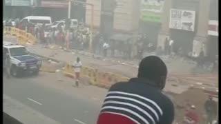 Durban residents stuck in burning building