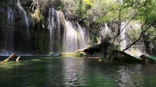 Beautiful Waterfalls With Rushing Water