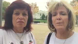Sabine talks in front of White House