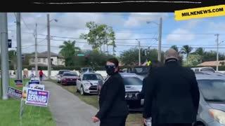 Fake Kamala Harris Caught Fooling Voters At Palm Beach