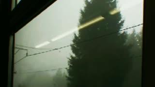 world through train window