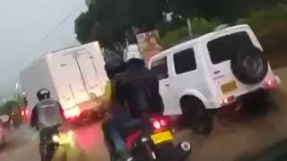 Video: Inundaciones en vías del área metropolitana de Bucaramanga tras fuerte tormenta