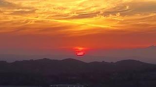 Sunset over CA skies