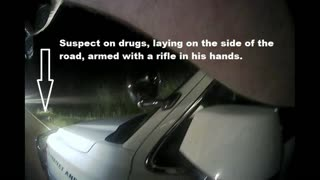 SUSPECT GRABS RIFLE, NEARLY GETS SHOT, POLK COUNTY TEXAS...