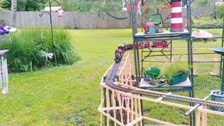 Outdoor G scale garden rail.