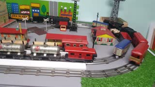 American Flyer 401 first run on the layout