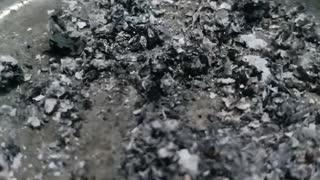 granules of a cigarette smoke