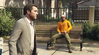 Trevor throws rocks at Michael