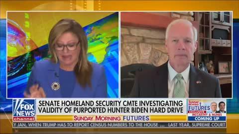 Sen. Ron Johnson Asked if FBI Investigated Child Porn on Hunter Biden's Laptop