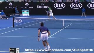 Djokovic vs. Federer 2016 Australian Open Semifinals Highlights