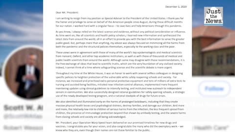 Dr. Scott Atlas has publicly shared his resignation letter