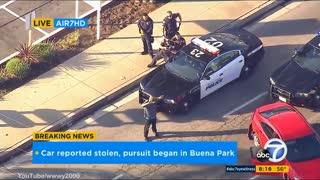 Police Pursuit Through... Big Surprise... Los Angeles California