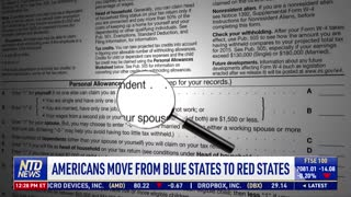Americans Move From Blue States to Red States