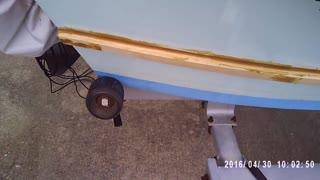 installing splash rail and rub rail Morning Glory