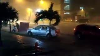 Aguacero con tempestad en Bucaramanga