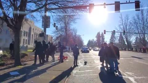 HEALING: Pro-America v Antifa, bear spray, paintballs, and gun shots!