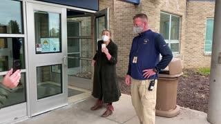 Liberal Teacher Mocks Disabled Veteran outside Hudsonville School Board Meeting