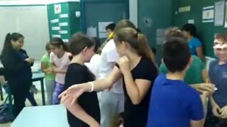 Kids Celebrate As They Are Told They No Longer Need To Wear Masks In Class