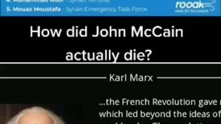 Truth about John McCain's death