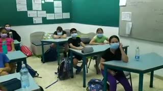 Kids react when told they can remove their masks