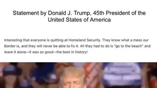 Donald Trump on EVERYONE quitting Homeland Security