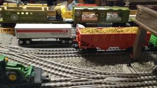 O Guage Lionel train layout 4x8 part 3