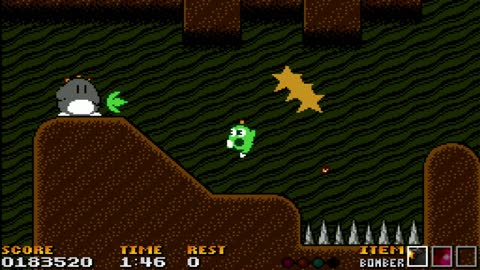 Playing Gimmick! EXACT*MIX In NES Mode
