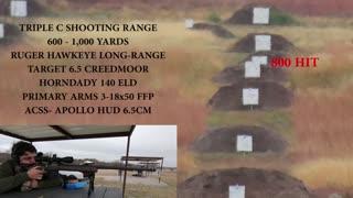Long Range Shooting at Triple C Shooting Range