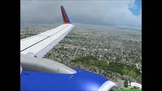 Landing in San Diego, CA.