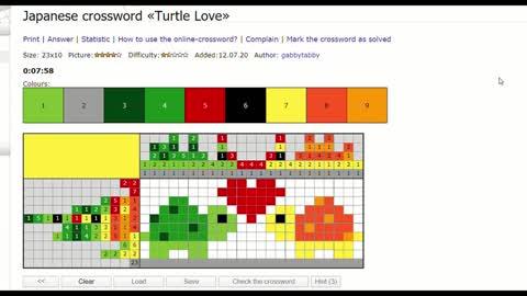 Nonograms - Turtle Love