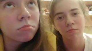 TikTok video with my sister