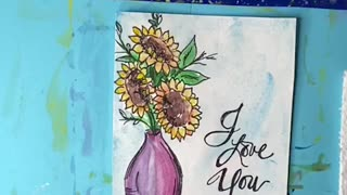 Mother's Day Flowers DIY Card