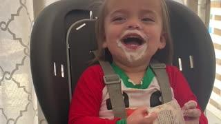 First Time Eating Yogurt