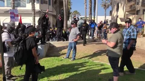 Antifa terrorist mob attacked Trump supporters