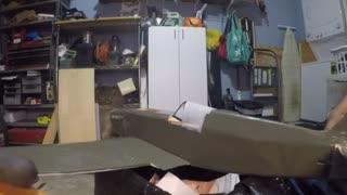 RC Model Spitfire engine Run up test